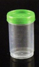 Specimen Containers, with ID Label, 4 oz/120mL, Sterile, Cap Color: Green (QTY. 80 per Case)