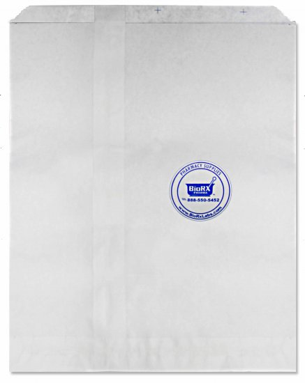 "Bags White 8"" X 5"" X 16"" (20 Lbs) 1,000 per Case [Without Print] - Click Image to Close"
