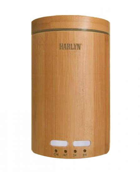 Harlyn Ultrasonic Oil Diffuser - Aromatherapy - Bamboo Finish - Click Image to Close