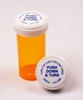 13 Dram Amber Vials with Reversible Child Resistant Closure Caps Included (Qty. 275)