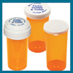 Pharmacy Vials Caps Pill Bottles